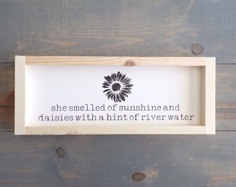 Sunshine and River water Sign