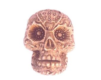 1 large skull skeleton skull cabochon skull Mexican Brown 40x30mm