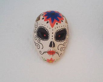 miniature mask of mother of the dead porcelain