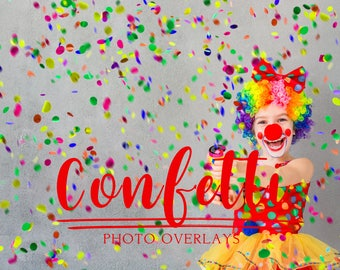 46 Confetti photo overlays