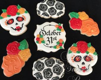 2 dozen Day of the Dead Día de Muertos Cookies