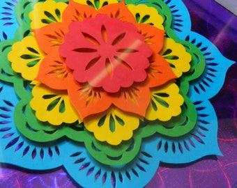 3D Paper Sculpture Mandala