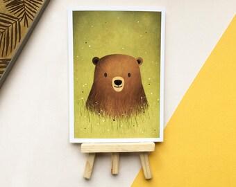 Bear Print - Animal Print - Cute - Gift for Animal Lovers - Illustration - Gift for Kids - Wall Art - Woodland - Nursery Art Print