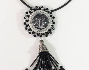 Coral Image with Moonstone Drops
