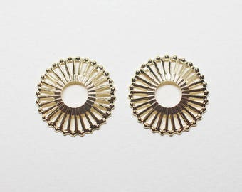 P0782/Anti-tarnished Gold Plating Over Brass/Dandelion Motivated Pendant Connector/20mm/4pcs