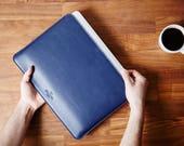 15 MacBook Pro Retina Leather Sleeve Case and Wool Felt Laptop Cover Handmade