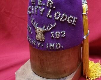 "Rare Art Deco Elks Lodge  ""FEZ"" ~ BPOE ~ 182  Benevolent and Protective Order of Elks P E R"