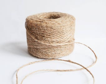 Jute Twine 3 Rolls | Untreated Premium Natural Jute Cord | Bulk Craft Twine 285 Ft each ( 95 Yards , 86 meters)  |  from the Tiny House Farm