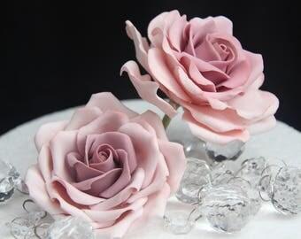 Large Gumpaste Rose for cake decorations. Filler flowers fondant sugar wedding cake toppers cupcake roses.