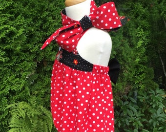 Minnie Mouse Birthday Outfit, Minnie romper, Minnie mouse romper, Disney cake smash, Minnie mouse costume, cake smash outfit, Disney romper