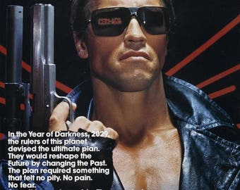 Back to School Sale: THE TERMINATOR Movie Poster Arnold Shwarzenegger Sci-Fi Horror