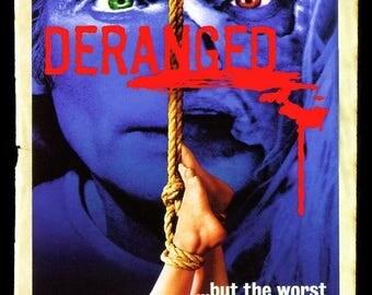 ON SALE NOW: Deranged Movie Poster 1974 Horror Psycho