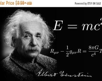 SPRING SALE: Albert Einstein E=Mc2 Poster