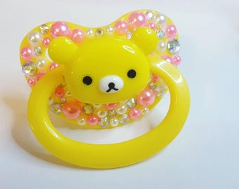 Rilakkuma Bear Decorated adult pacifier