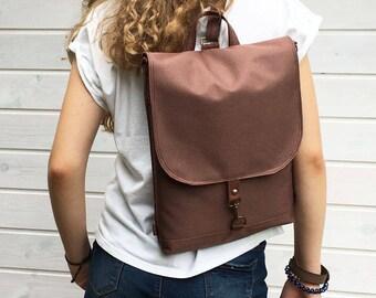 Cinnamon Waterproof Backpack, Convertible Vegan Rucksack