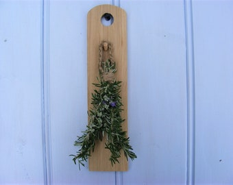 Wooden Herb Holder Rosemary Wall Hanger