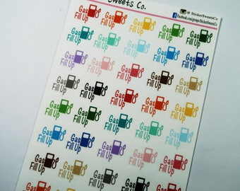 Gas Fill Up Planner Stickers