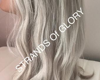 Full Lace Silk Top Human Hair Wig - Ms. Grey Not Grey