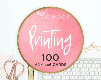 PRINTING -- 100 -- 4x6 Cards -- Perfect for Tips & Application Cards