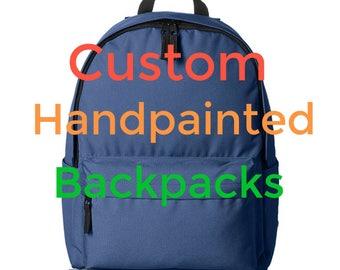 Custom Handpainted Backpack