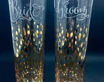 Gold Toasting Flutes, Champagne Flutes, Champagne Glasses, Champagne Flute, Toasting Flutes, Toasting Glasses, Champagne Glass, Wedding