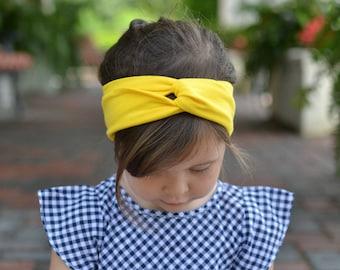 Sunshine Yellow Turban Headband , Baby Turban Headwrap, Girl's Turban,  Adult Turban Headband, Twisted Headband