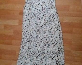 Homemade Beautiful vintage dress, White with beautiful dots, summer dress
