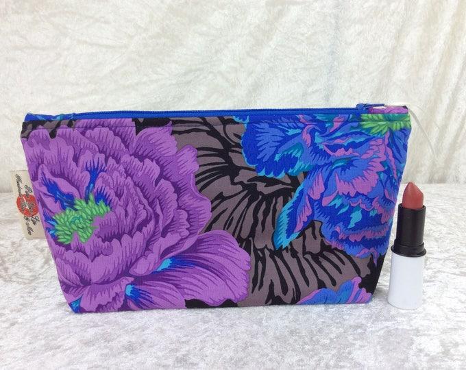 Peony Brocade Zip Case Bag Pouch Kaffe Fassett Philip Jacobs fabric Handmade in England