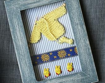 Mini vitrine Cadeau de naissance pour chambre de bébé