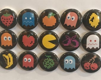 Pacman Magnets - set of 15