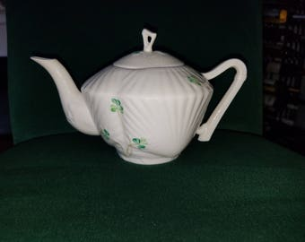 Belleek Shamrock Tea Pot