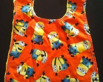 Minion Toddler Bib - yellow backing Made with Disney's Minion Fabric