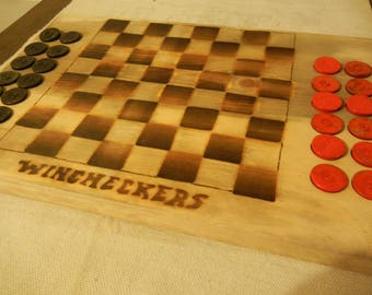 Wincheckers checker board game (workshop defect special) 50% off discount