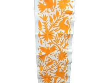 Otomi Table Runner, Mexican Table Runner, Mexico Embroider, Mexican Decor  Cotton 100%