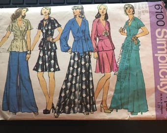 Vintage 70s Simplicity 6100 Separates Pattern-Size 12 (34-26 1/2-36)