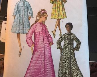 Vintage 60s Simplicity 9074 Uncut Robe Pattern