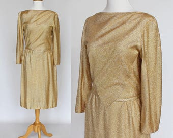 1970s GOLD LUREX DRESS