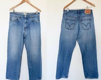 LEVI's High Waisted Blue Denim 528 Jeans