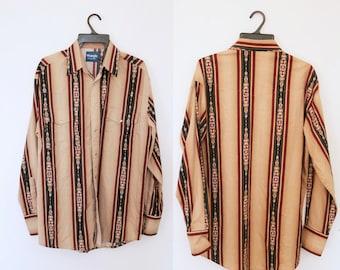 Vintage WRANGLER Striped Western Shirt