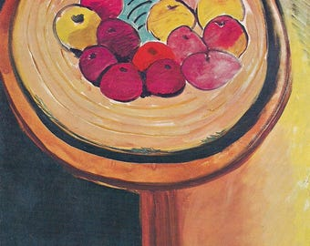 Matisse Bowl of Apples  art print - gift for artists - for art lovers - 3 sizes available = framable