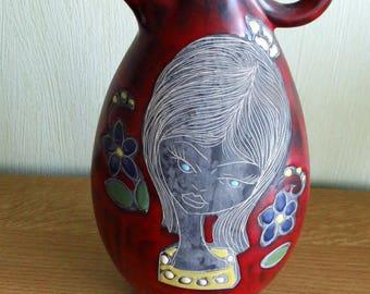 Italy Vase Ceramique San Marino-Marcello Fantoni or Titano