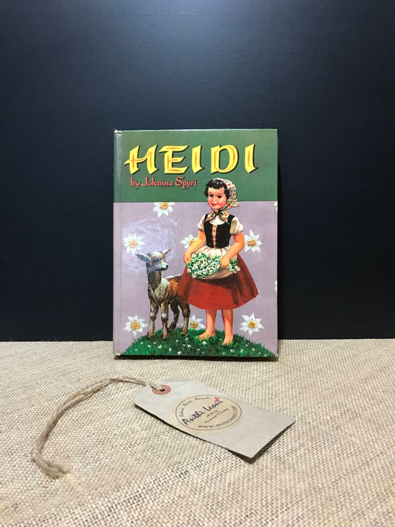 Heidi by Johanna Spyri | Children's Story Book Published by Whitman 1966 | Vintage Children's Classic Fiction | Children's Bedtime Story