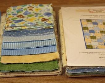 Quilt Kit: Patchwork Baby Animals - Blue & Green