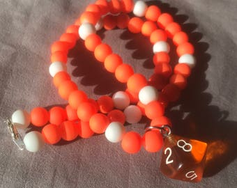 Orange D8 necklace