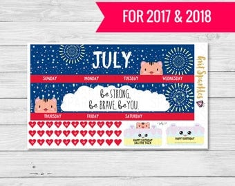 july monthly stickers july monthly planner stickers ready to ship july eclp stickers for use with ERIN CONDREN LIFEPLANNER™