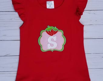 Summer Strawberry Shirt - Embroidered shirts