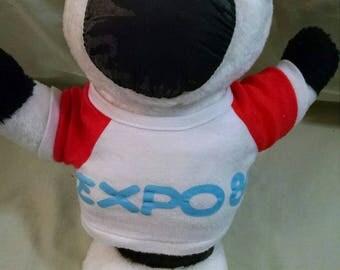 Expo 86 Souvenir Expo Ernie Plush Mascot