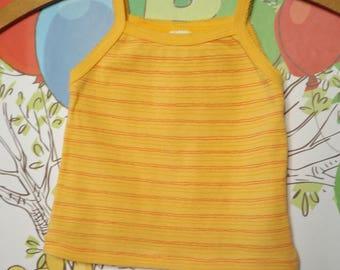 ABSORBA dress child made in France vintage / vintage cotton tank top