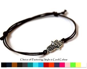 Hamsa Hand Bracelet, Mens bracelet, Womens bracelet, cord bracelet, Friendship Bracelet, Valentines gift, Fathers day gift, Boyfriend gift