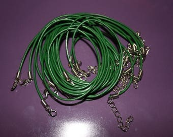 OIL END GREEN COTTON CORD WITH LOBSTER CLASP